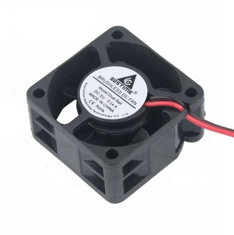 Small 5V 0.3A Turbo Air Intake Fan (Size: 40x40x20mm)