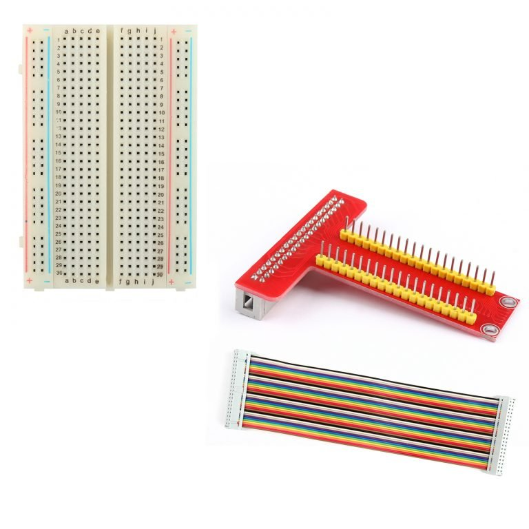 T Type GPIO Breakout board with 40 pin Cable and 400 holes Breadboard for Raspberry Pi 3 2 Mode B