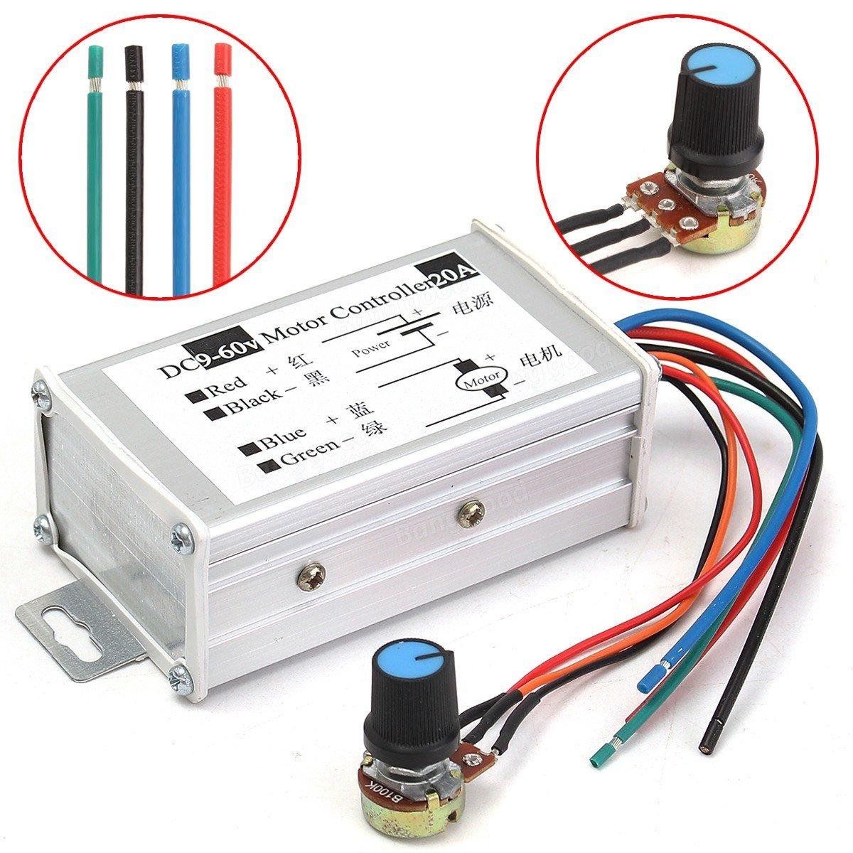 20a Pwm Dc Motor Speed Regulator Module 9v 12v 24v 36v 48v 60v Pwmmotorcontrollerwithforwardandreversejpg