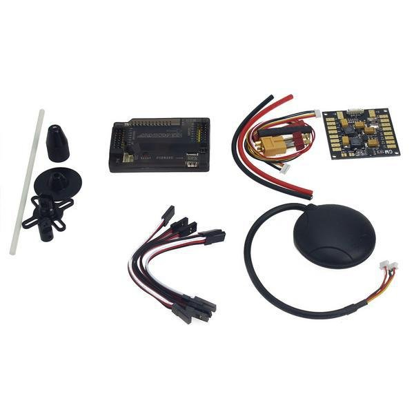 APM 2.8 Flight Controller with Shock Absorber + UBLOX NEO-M8N GPS + GPS Folding Antenna Base Set + APM Power Module + 433MHZ 500MW Telemetry Combo kit