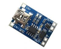 TP4056 1A Li-ion lithium Battery Charging Module with Current Protection - Mini USB (Robu.in)