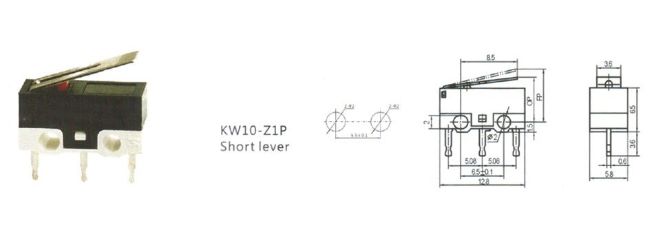Microswitch KW10-Z1P Limit Switch 1A 125V AC - ROBU.IN