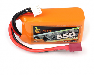 Orange 850mah 3s 30c Lithium Polymer Battery Pack (LiPo)