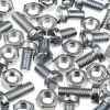 EasyMech M4 10mm CHHD Bolt, Nut and Washer Set-25 pcs.