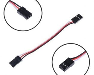 1JR Male To 2 Futaba Female Y Type Servo Extension Wire (100mm)