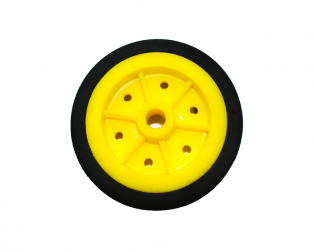 EasyMech 100MM MODIFIED Heavy Duty(HD) DISC Wheel Yellow - 1Pcs