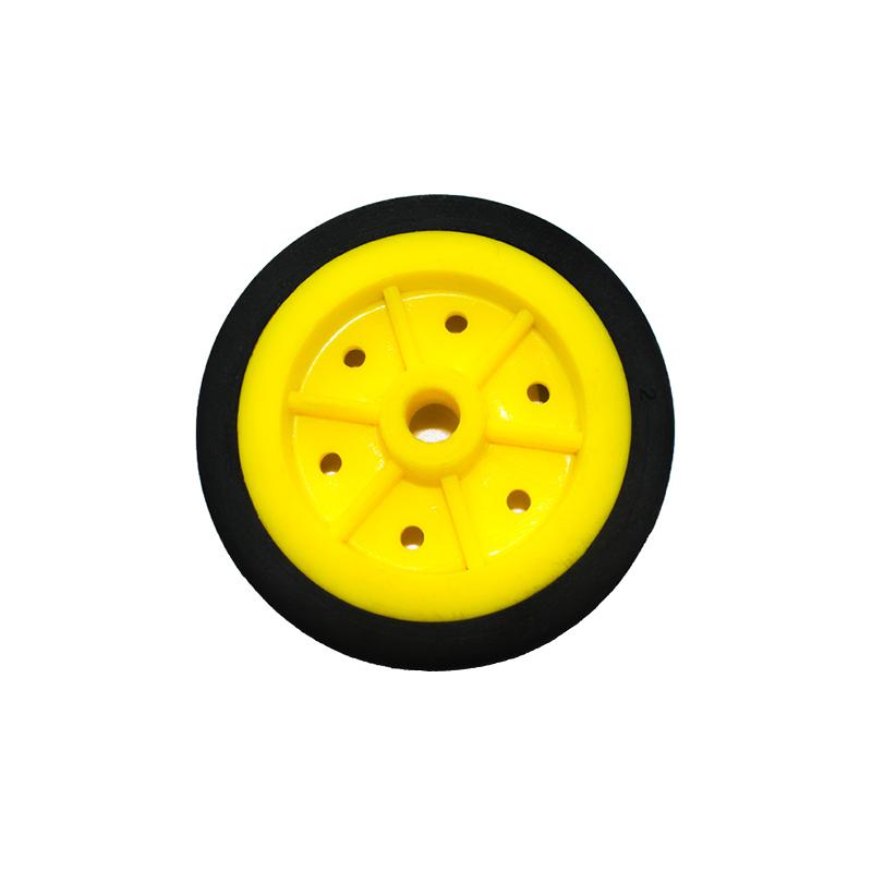 EasyMech 100MM MODIFIED Heavy Duty(HD) DISC Wheel Yellow - 1Pcs