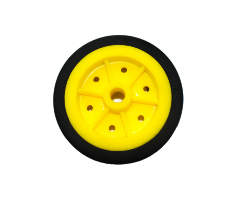 EasyMech 100mm Modified Heavy Duty(HD) Disc Wheel Yellow - 2pcs