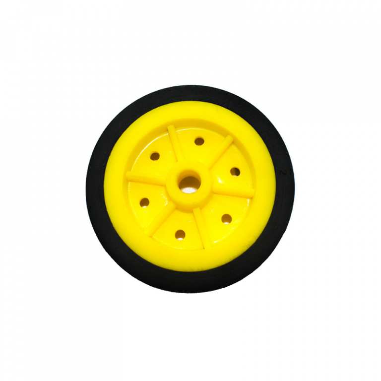 EasyMech 100mm Modified Heavy Duty(HD) Disc Wheels Yellow - 4Pcs