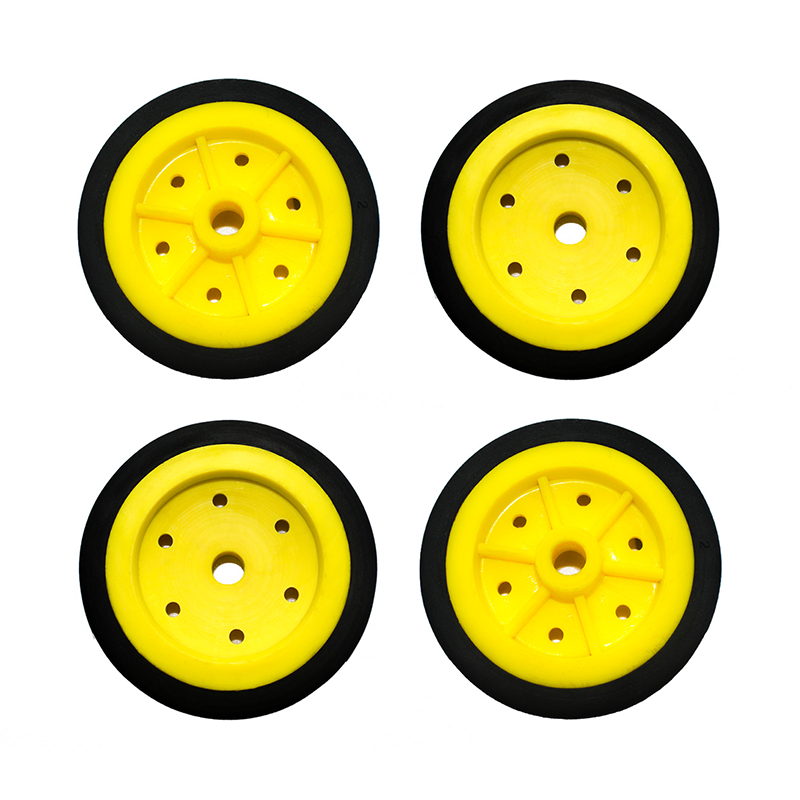 EasyMech 100mm Modified Heavy Duty(HD) Disc Wheels Yellow - 4Pcs
