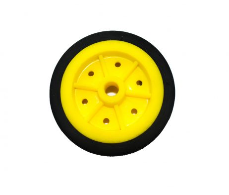 EasyMech 100mm Modified Heavy Duty(HD) Disc Wheel Yellow (Robu.in)