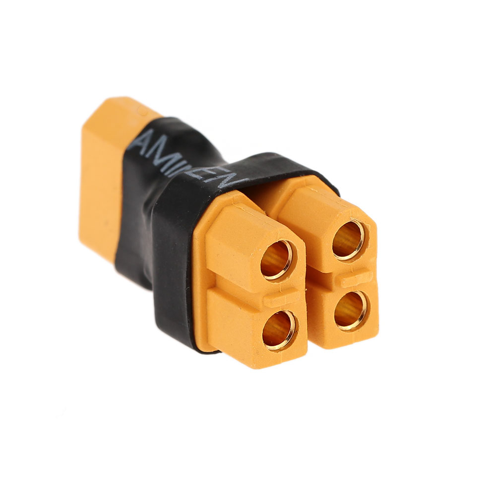 1-XT60-Parallel-Adaptor-(One-XT60-Male-to-Two-XT60-Female)-Connection-Plug---1Pcs