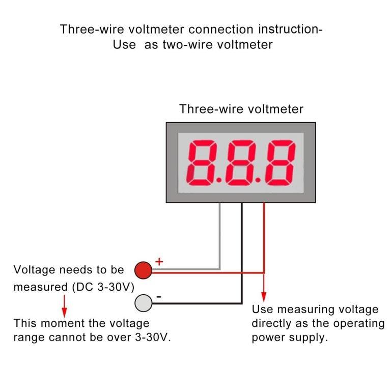 0 to 100 V 0.28 inch Digital Voltage Tester DC VOLTMETER (Blue)