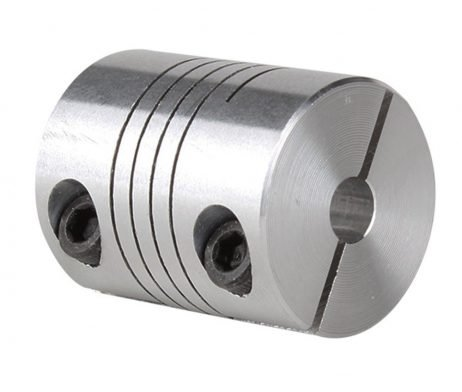 Flexible Aluminium Coupling OD: 25mm x L: 33mm Bore: 5x8mm