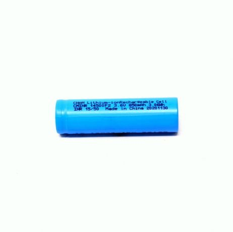 Standard 14500 850mAh 3.7 Volt AA Size Rechargeable Li-Ion Battery