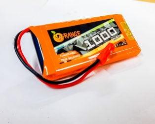 Orange 1000 mAh 1S 30C/60C Lithium polymer battery Pack (LiPo)