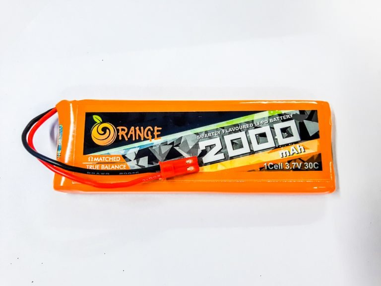 Orange 2000 mAh 1S 30C/60C Lithium polymer battery Pack (LiPo)