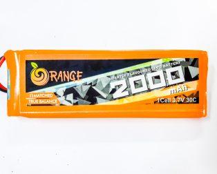Orange 2000 mAh 1S 30C/60C Lithium polymer battery Pack (LiPo)