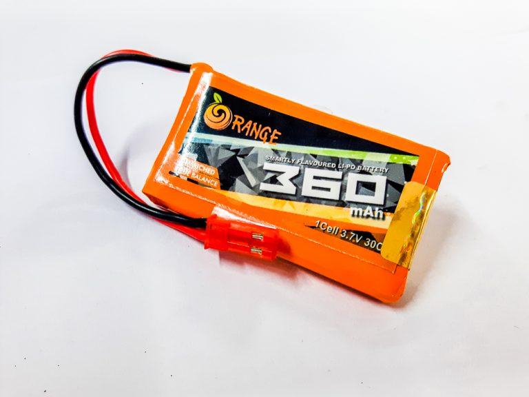 Orange 360 mAh 1S 30C/60C Lithium polymer battery Pack (LiPo)