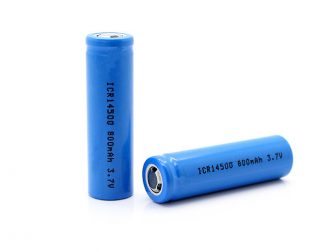 Standard 14500 800mAh 3.7v AA Size Rechargeable Li Ion Battery