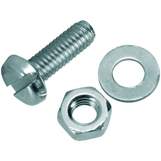EasyMech M3 x 10mm CHHD Bolt, Nut and Washer Set-25 pcs.