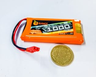 1 Cell LiPo (3.7V-4.2V)