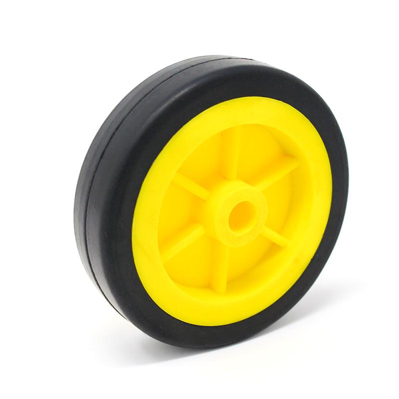 EasyMech Heavy Duty(HD) Disc Wheel 100mm Dia - 1Pcs(Yellow Color)