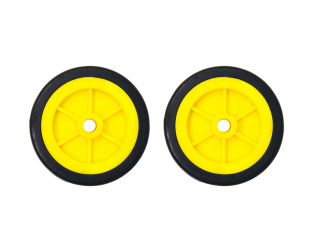 EasyMech Heavy Duty(HD) Disc Wheel 100mm Diameter - 2Pcs(Yellow Color)