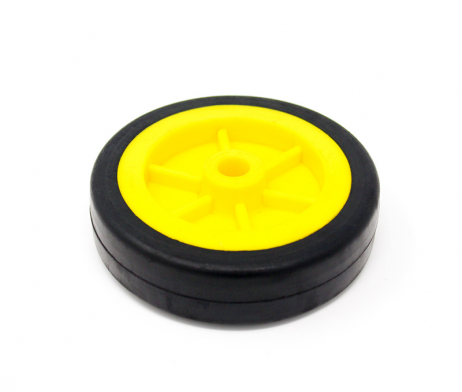 EasyMech Heavy Duty(HD) Disc Wheel 100mm Diameter - 2Pcs(Yellow Color)