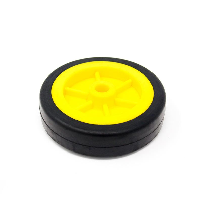 EasyMech Heavy Duty(HD) Disc Wheel 100mm Dia - 4Pcs(Yellow Color)