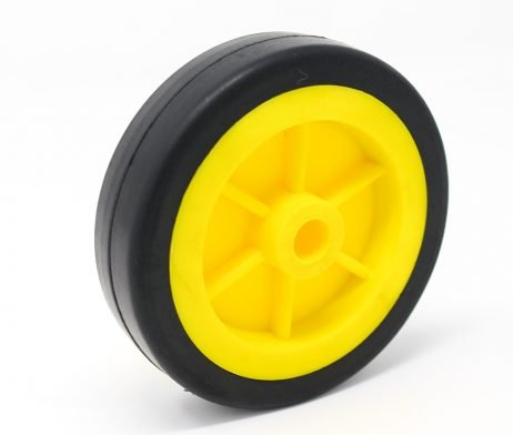 EasyMech Heavy Duty(HD) Disc Wheel 100mm Dia - 1Pcs(Yellow Color)