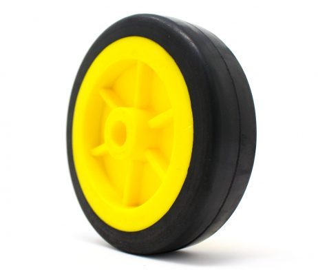 EasyMech Heavy Duty(HD) Disc Wheel 100mm Dia - 4Pcs(Yellow Color)