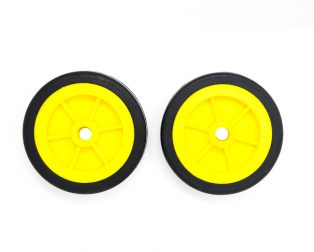 EasyMech Heavy Duty(HD) Disc Wheel 100mm Dia - 2Pcs(Yellow Color)