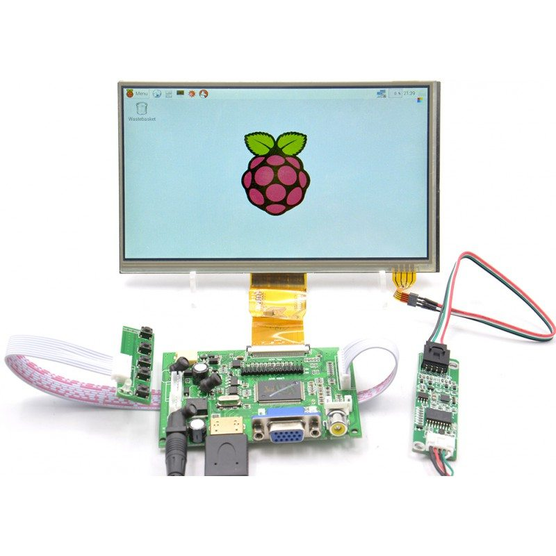 7 Inch LCD Touch Display With Driver Board Kit For Raspberry Pi - Robu in |  Indian Online Store | RC Hobby | Robotics