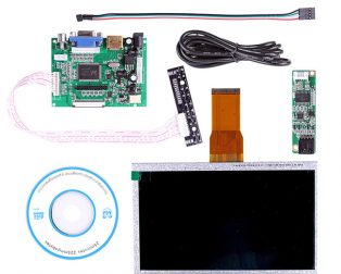 7 Inch LCD Touch Display With Driver Board Kit For Raspberry Pi