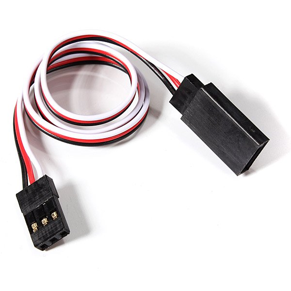 SafeConnect Flat 30 CM 22AWG Servo Lead Extension (Futaba) Cable with Hook - 1PCS