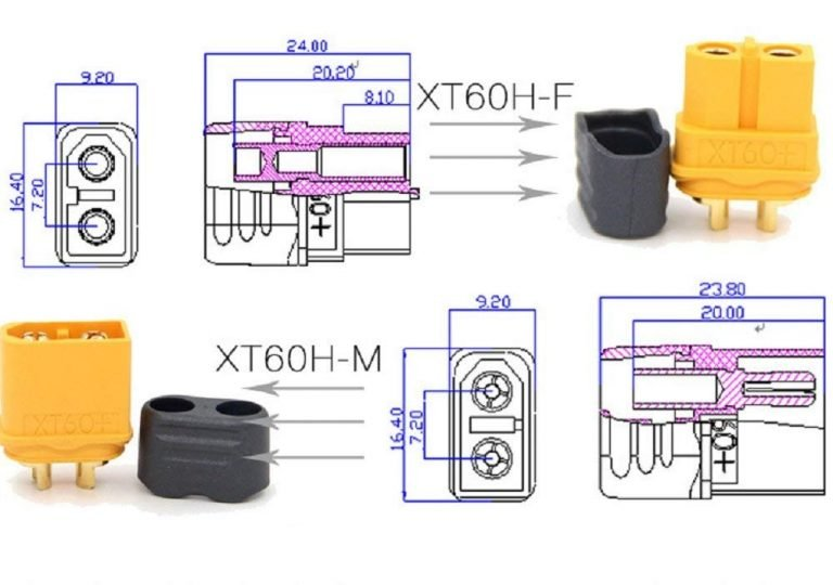 XT60H Male-Female Connector Pair with Housing-1Pair