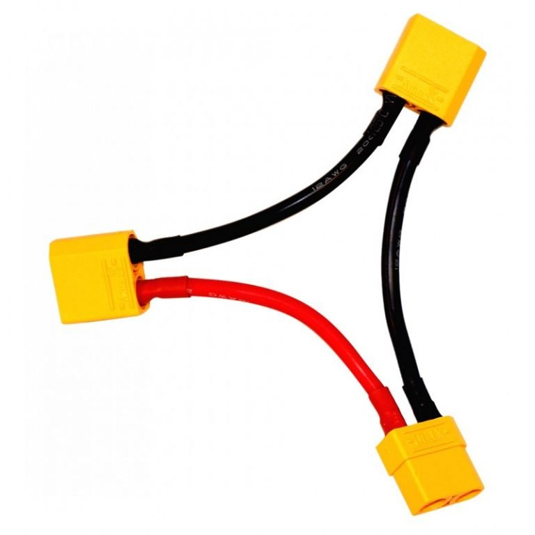 SafeConnect XT90 Battery Harness 10AWG for 2 Packs in Series