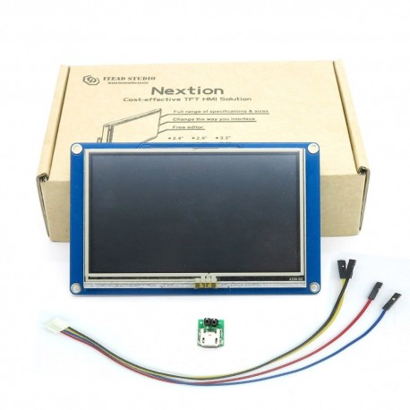 """Nextion NX4024T032 - Generic 3.2"""" HMI TFT Intelligent LCD Touch Display Module is a seamless Human Machine Interface (HMI) solution that provides a control and visualization interface between a human and a process, machine, application or appliance. Nextion is mainly applied to the Internet of thing (IoT) or consumer electronics field."""