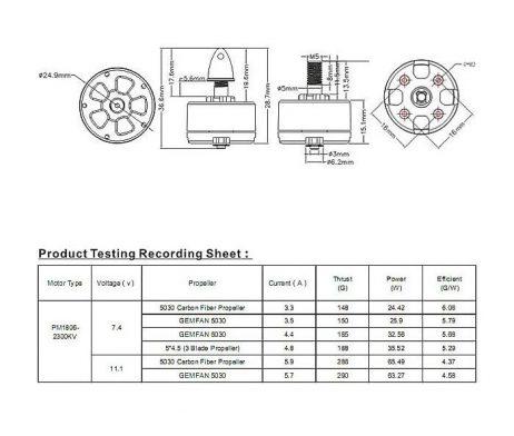 Emax PM1806 2300kv Plastic Brushless Motor(CW)