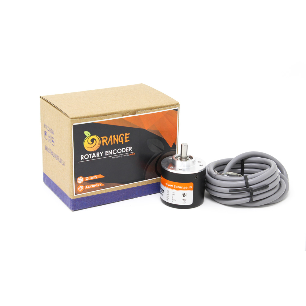 Orange Rotary Incremental Optical Encoders -- ROBU.IN