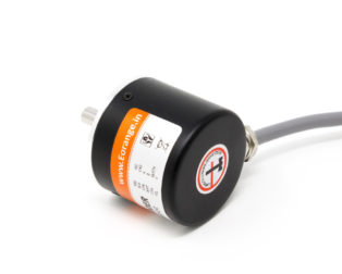 Orange Rotary Incremental Optical Encoders ROBU.IN