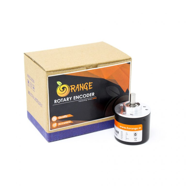 Orange Rotary Incremental Optical Encoders--ROBU.IN