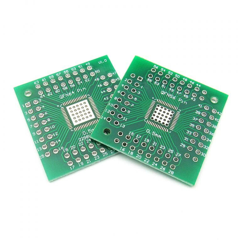 QFN 56 64 SMD TURN TO DIP PCB Adapter