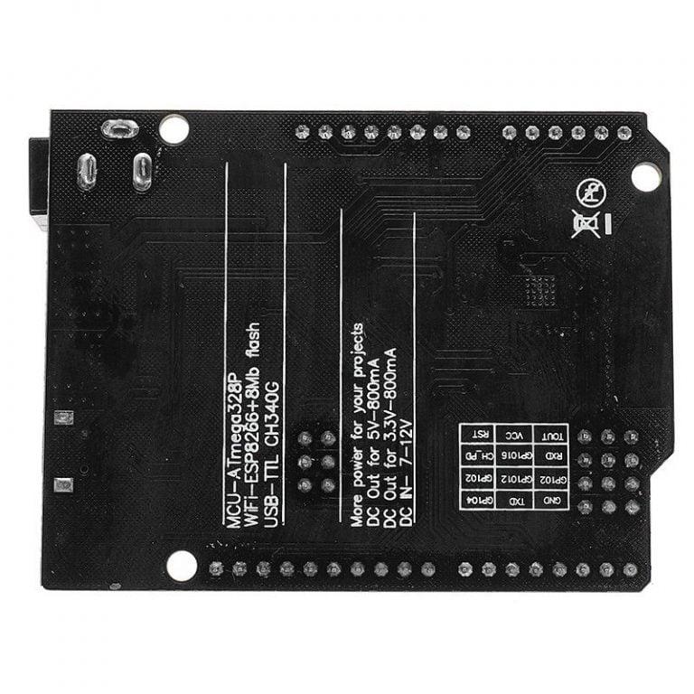 Uno+WiFi R3 AtMega328p+NodeMSU ESP8266 32mb Memory USB-TTL CH340G
