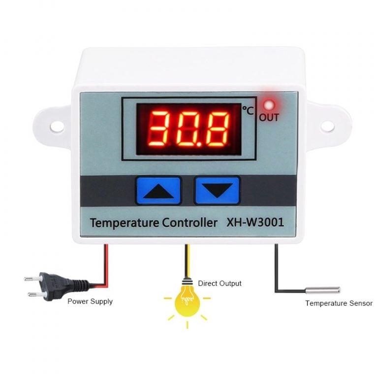 XH-W3001 AC 220V 1500W Digital Microcomputer Thermostat Switch
