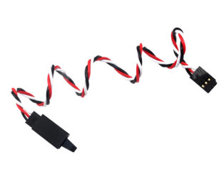 SafeConnect Twisted 100cm 22AWG Servo Lead Extention (Futaba) with Hook
