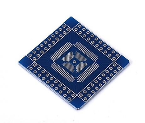QFN/ TQFN/ LQFP QFP 16-80 PIN Switch Over DIP Double-sided PCB Adapter
