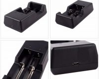 Tomo V6-2 Dual Usb 2 Slots Battery Intelligent Charger For AA / AAA / 18650 / 17650 / 16340 / 14500 / 10500 Batteries Black