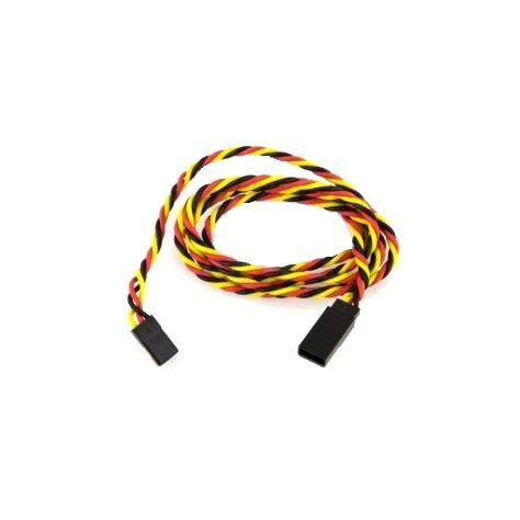 SafeConnect Twisted 100cm 22AWG Servo Lead Extention (JR) with Hook-1Pcs.